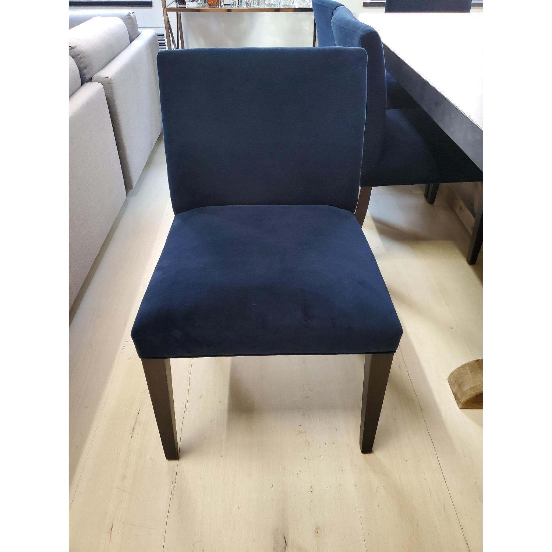 Room & Board Indigo/Dark Blue Velvet Dining Accent Chairs - image-4