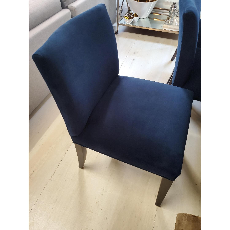 Room & Board Indigo/Dark Blue Velvet Dining Accent Chairs - image-6