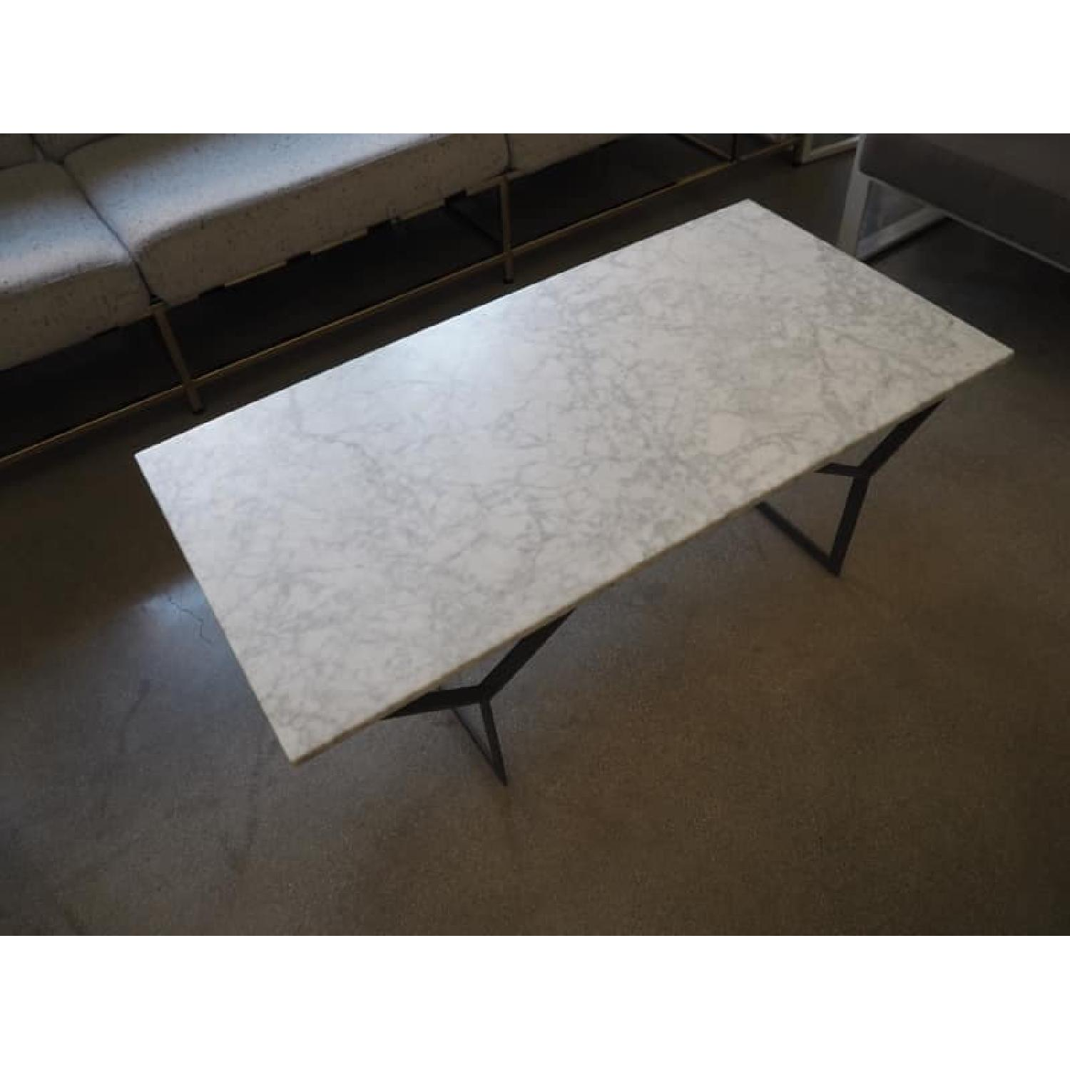 West Elm Marble Coffee Table - image-1