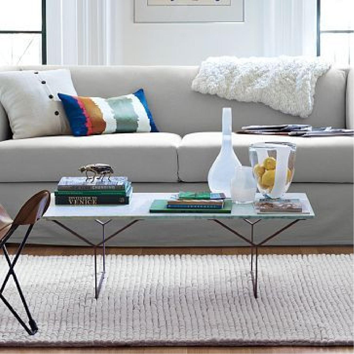 West Elm Marble Coffee Table - image-3