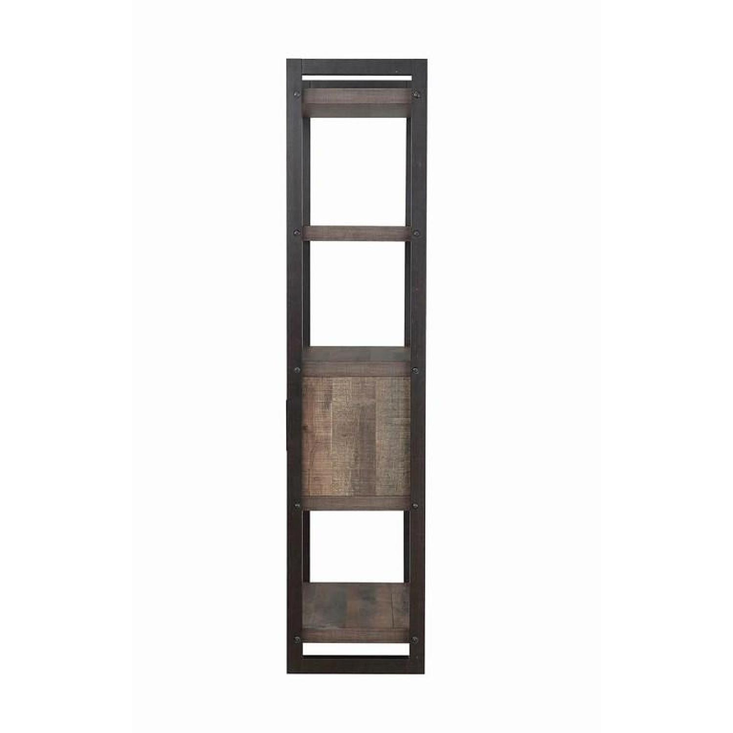 Natural Rustic Coffee Bookcase w/ Cabinet - image-2