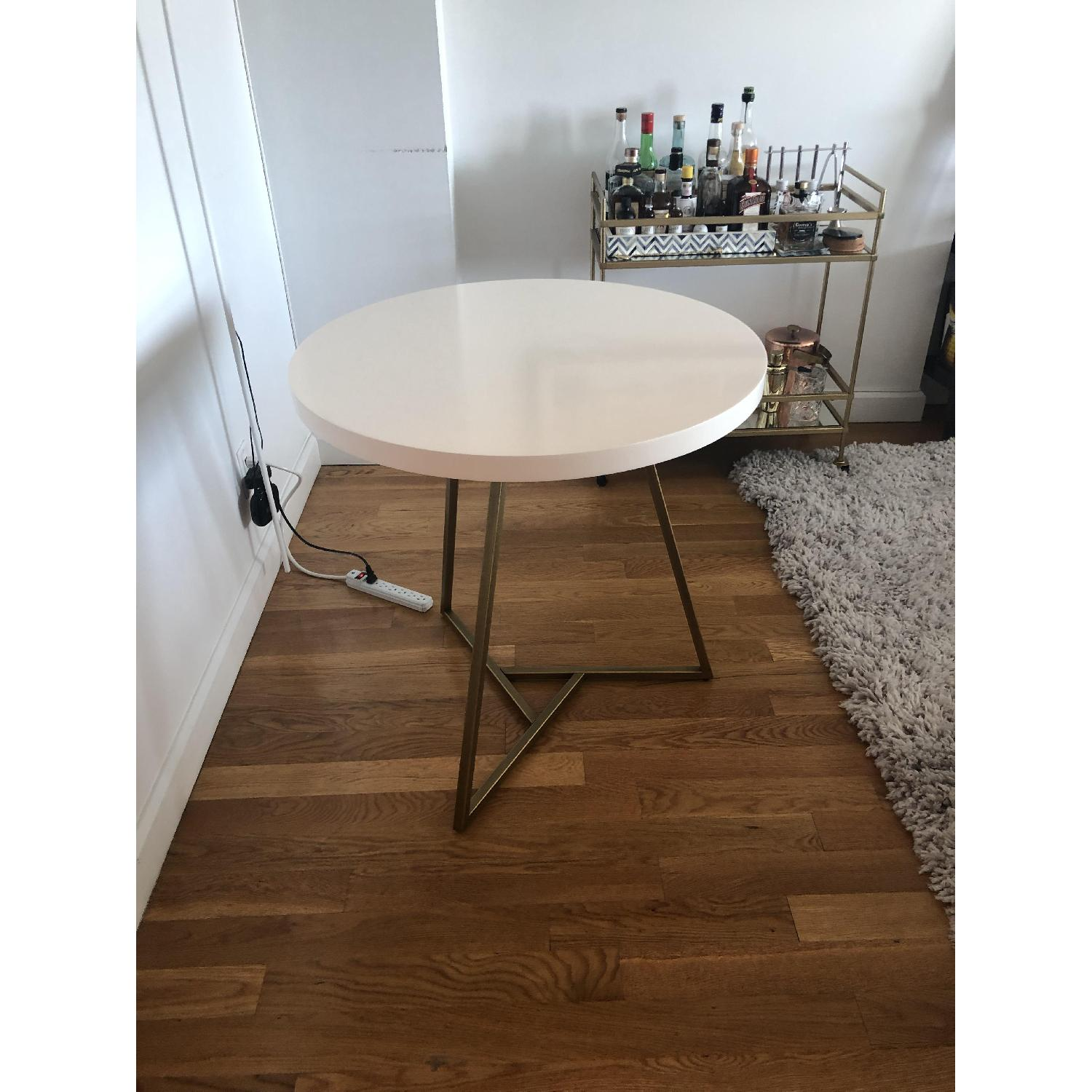 West Elm Laquer Top Cafe Table - image-2