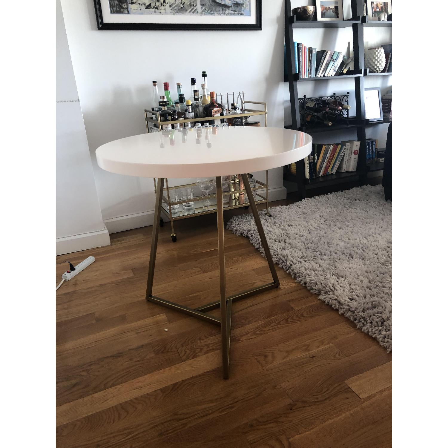West Elm Laquer Top Cafe Table - image-4