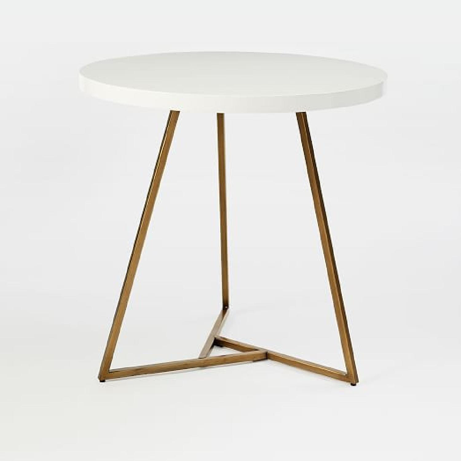 West Elm Laquer Top Cafe Table - image-5