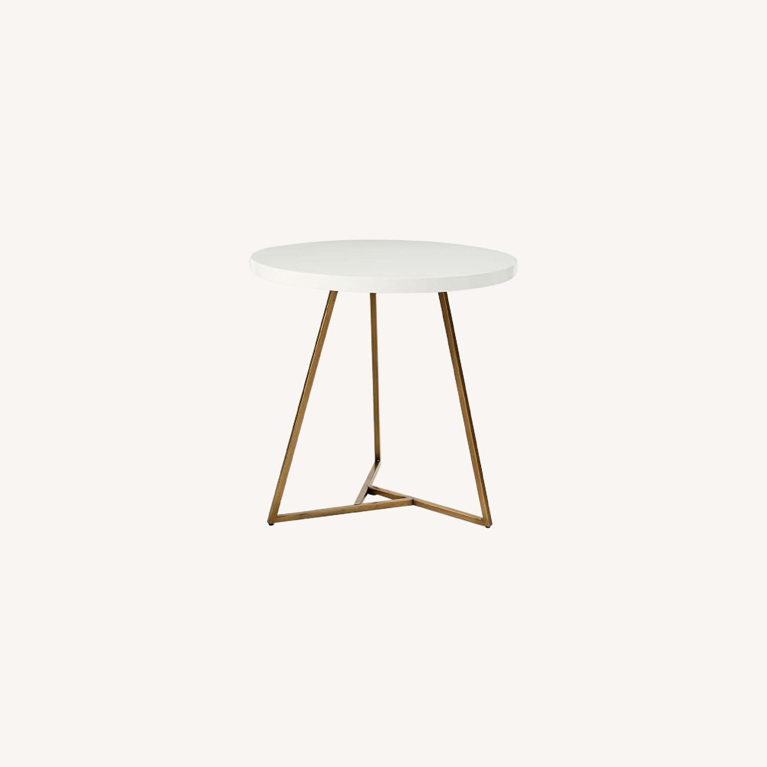 West Elm Laquer Top Cafe Table - image-0