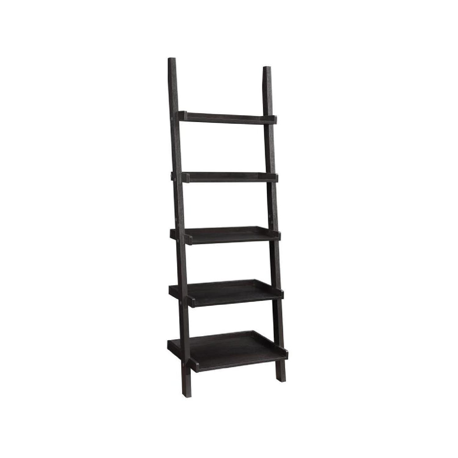 Cappuccino Ladder Bookcase - image-0