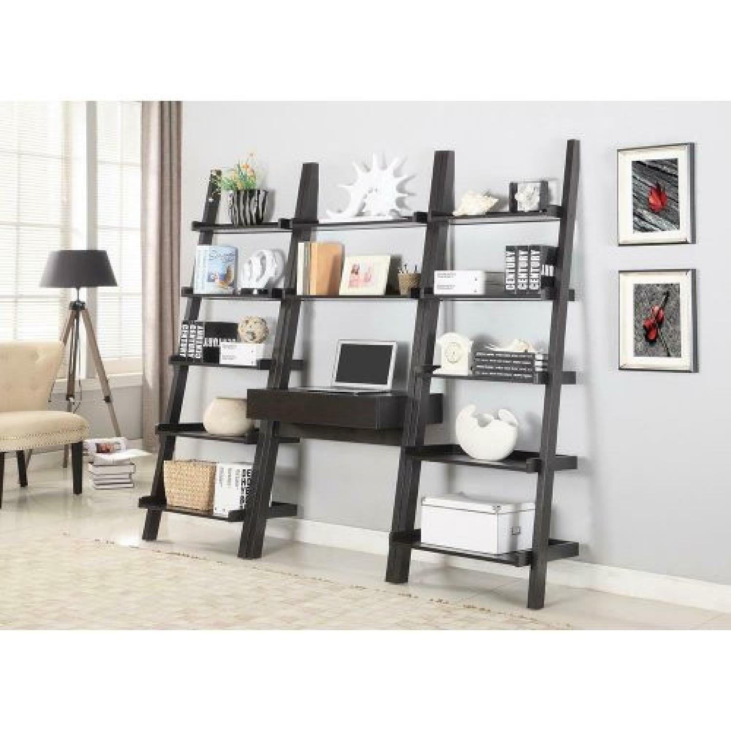 Cappuccino Ladder Bookcase - image-2