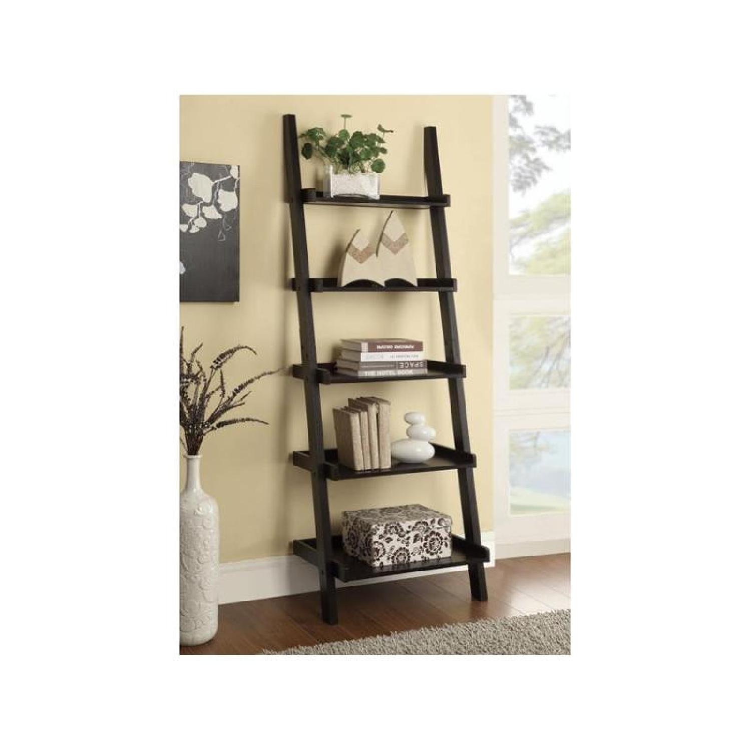 Cappuccino Ladder Bookcase - image-1