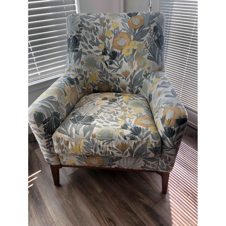 West Elm Sloan Floral Accent Chair - image-1