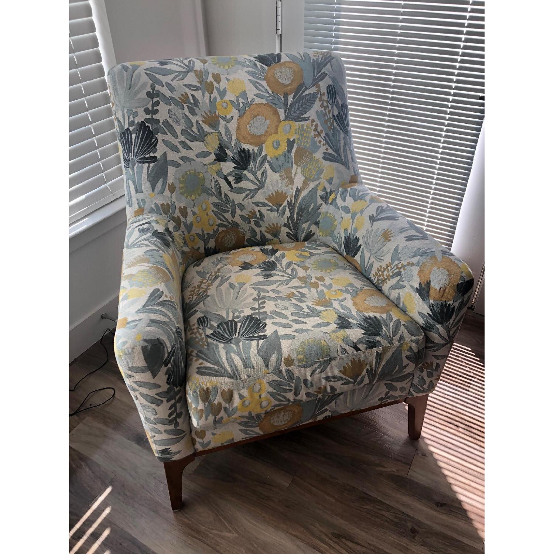 West Elm Sloan Floral Accent Chair - image-2
