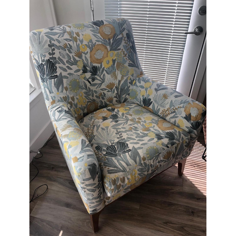 West Elm Sloan Floral Accent Chair - image-3