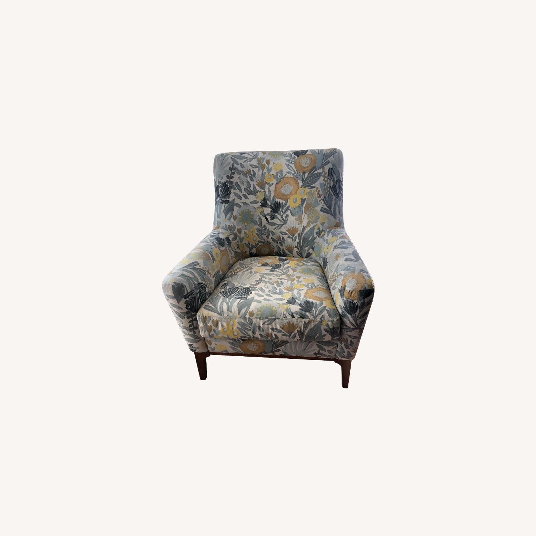 West Elm Sloan Floral Accent Chair - image-0