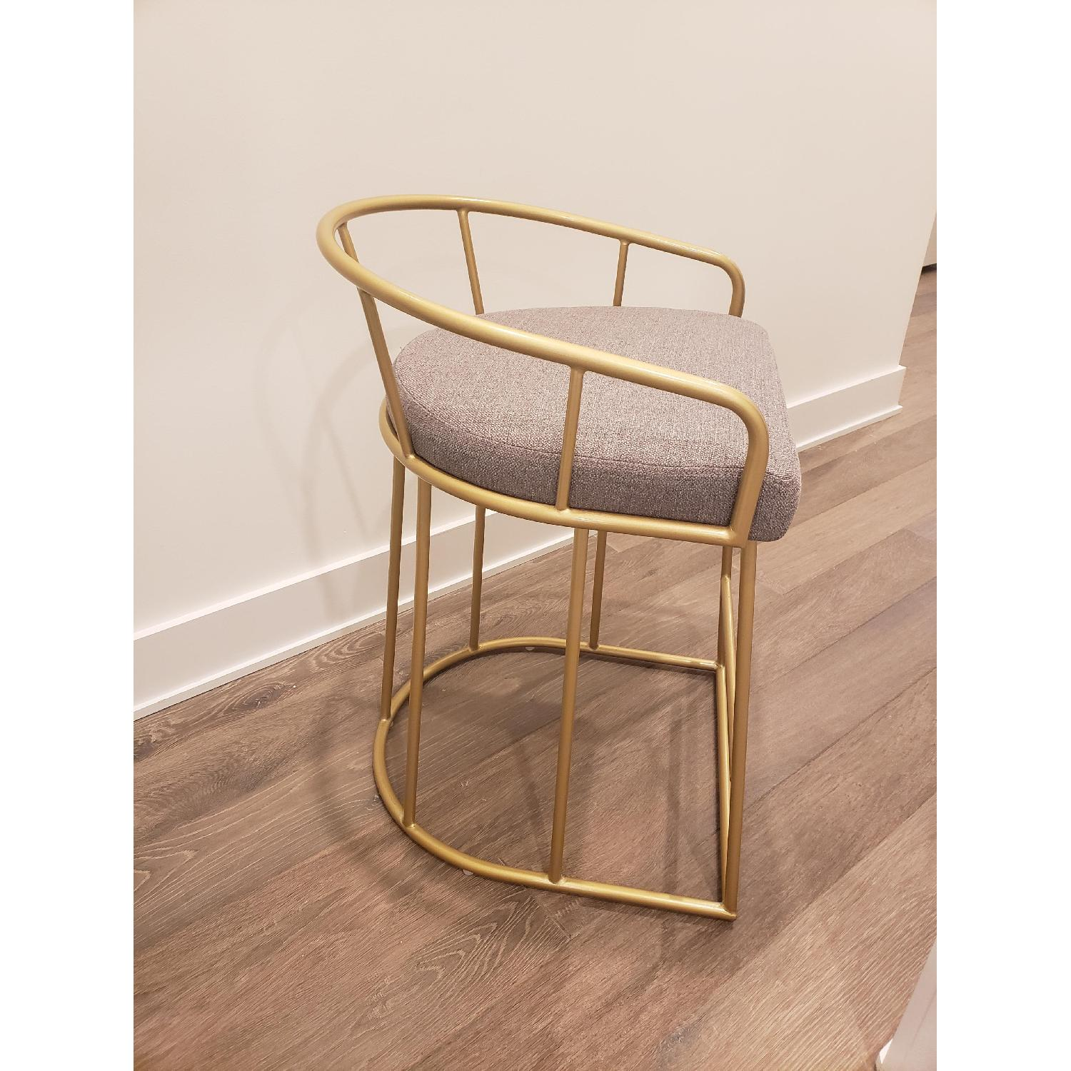 Macy's Gold Tone Upholstered Counter Stools - image-3