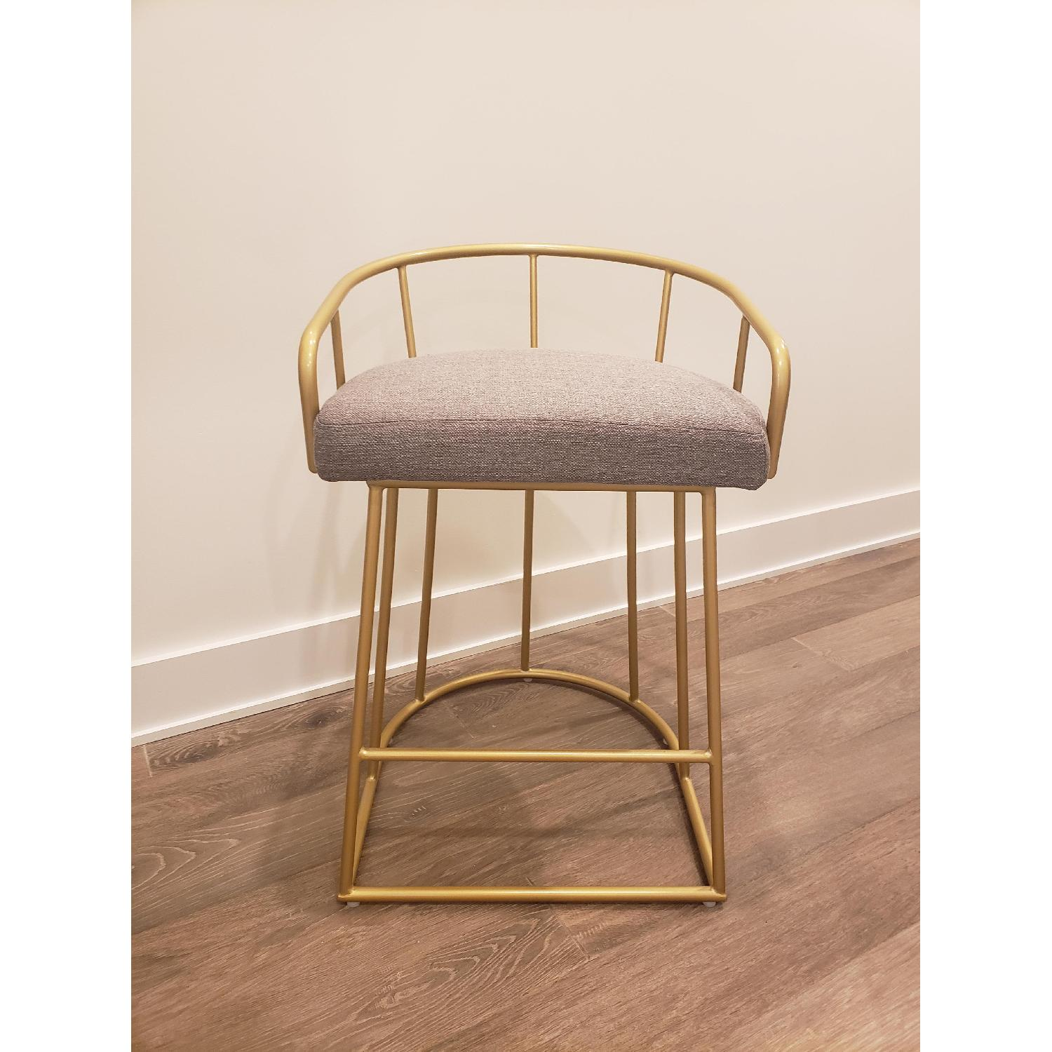Macy's Gold Tone Upholstered Counter Stools - image-2