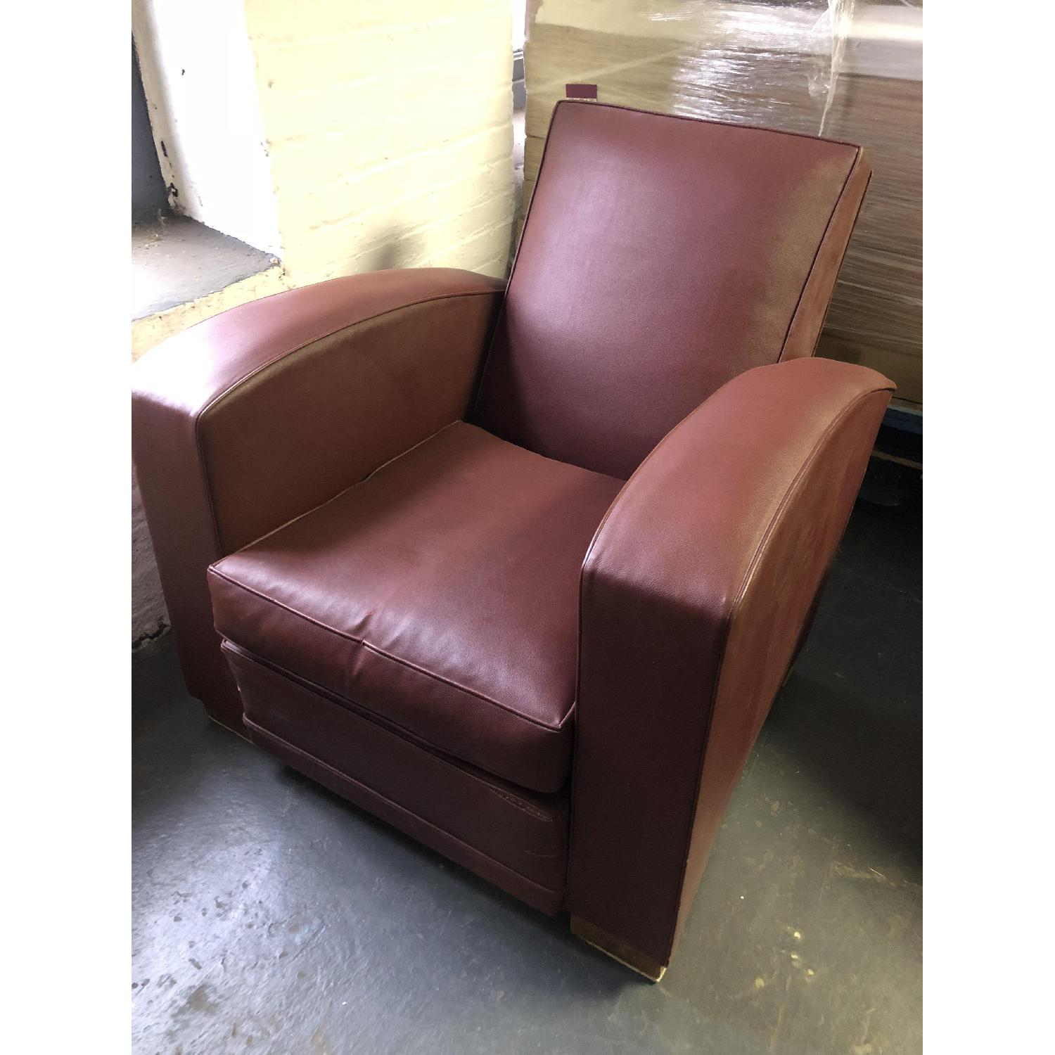 Vintage French Deco Club Chair - image-1