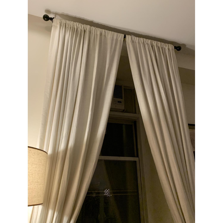 Restoration Hardware Belgian Linen Curtain - image-1