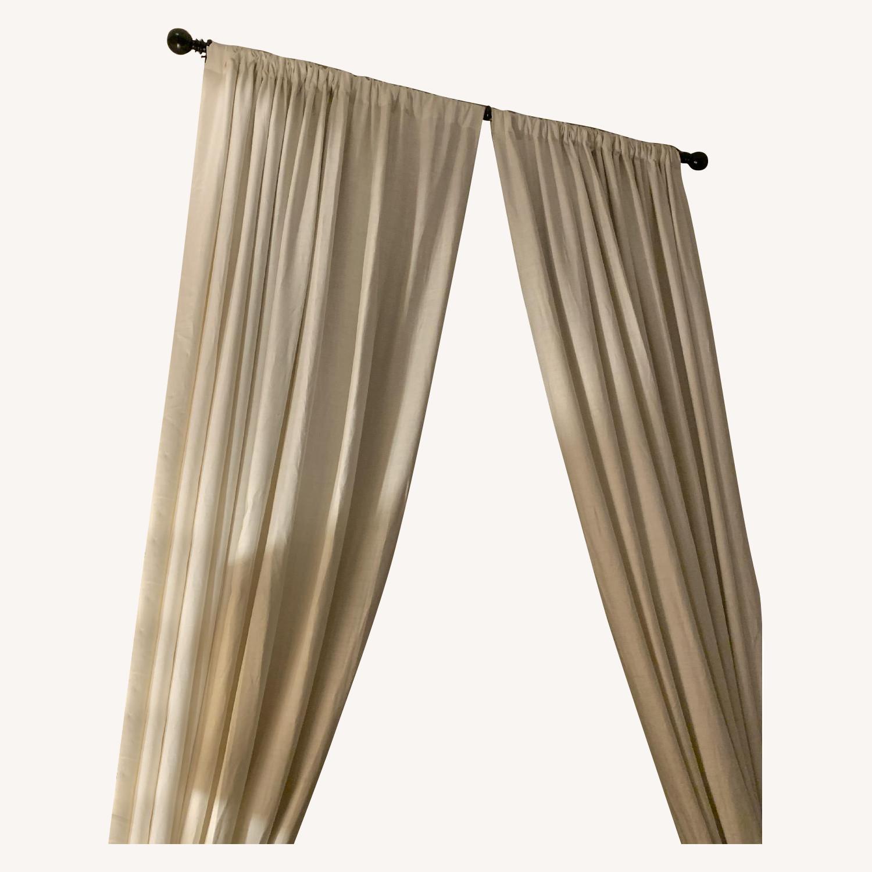 Restoration Hardware Belgian Linen Curtain - image-0