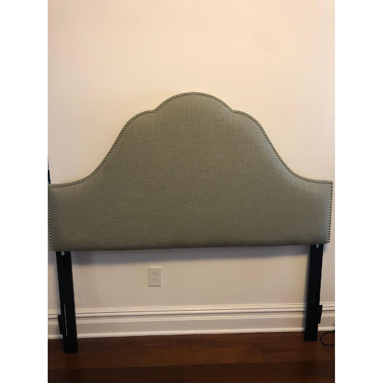 Skyline Furniture Congress Queen Linen Headboard - image-1