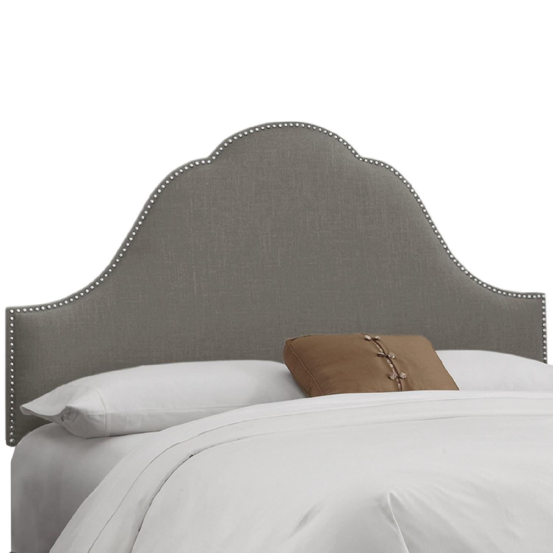 Skyline Furniture Congress Queen Linen Headboard - image-0
