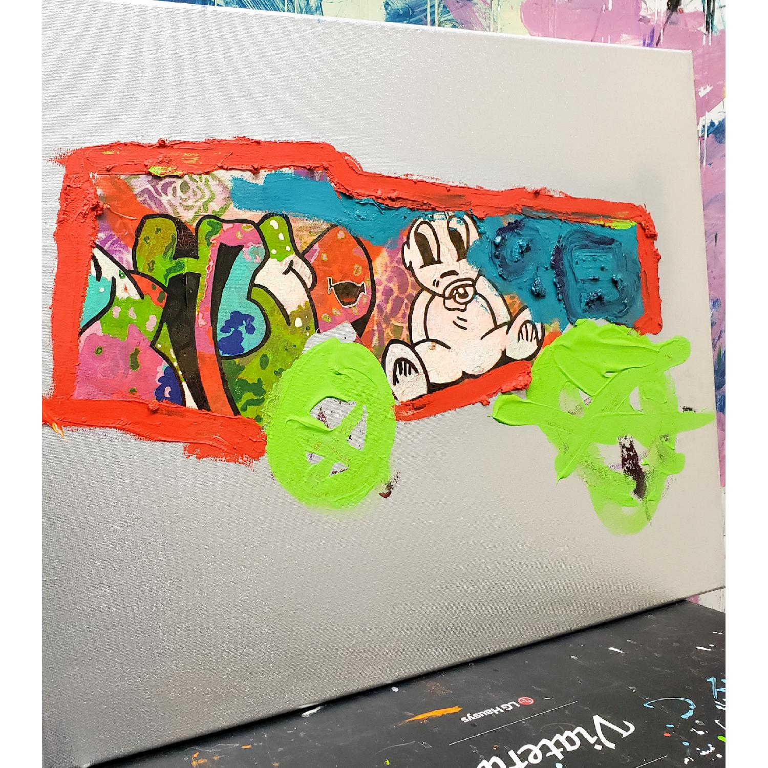 Alberto Riera New York Subway Collection Painting - image-1