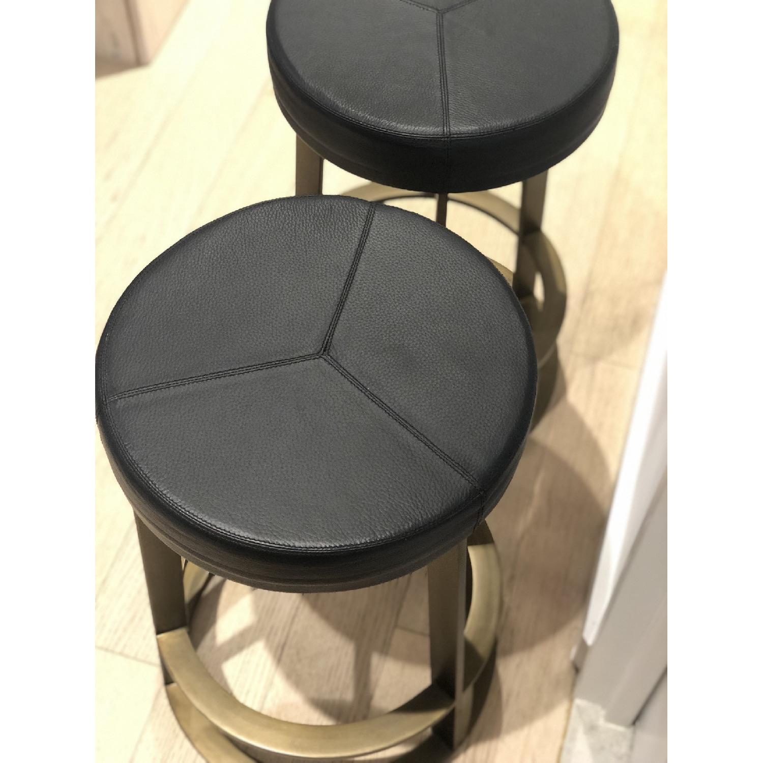 CB2 Leather Reverb Stools - image-4