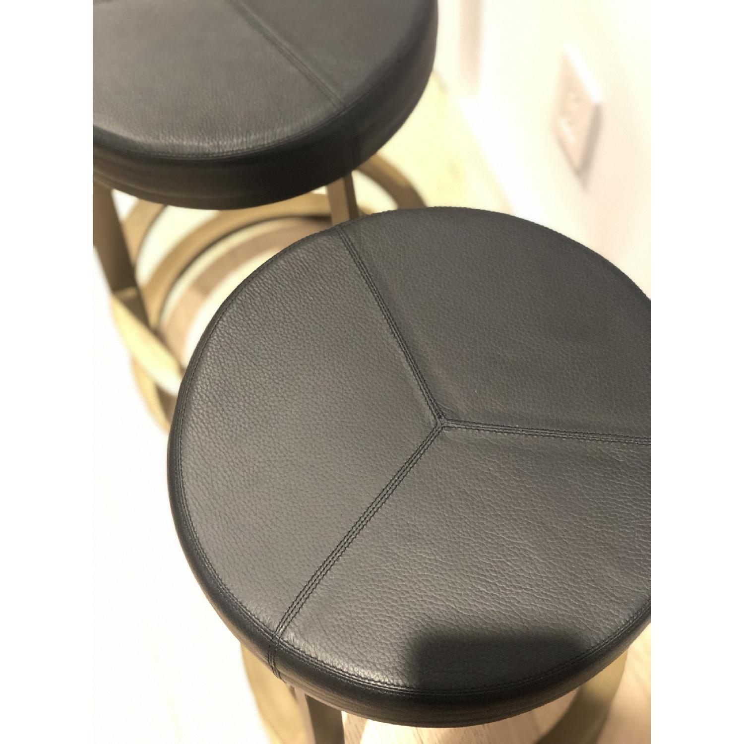 CB2 Leather Reverb Stools - image-3