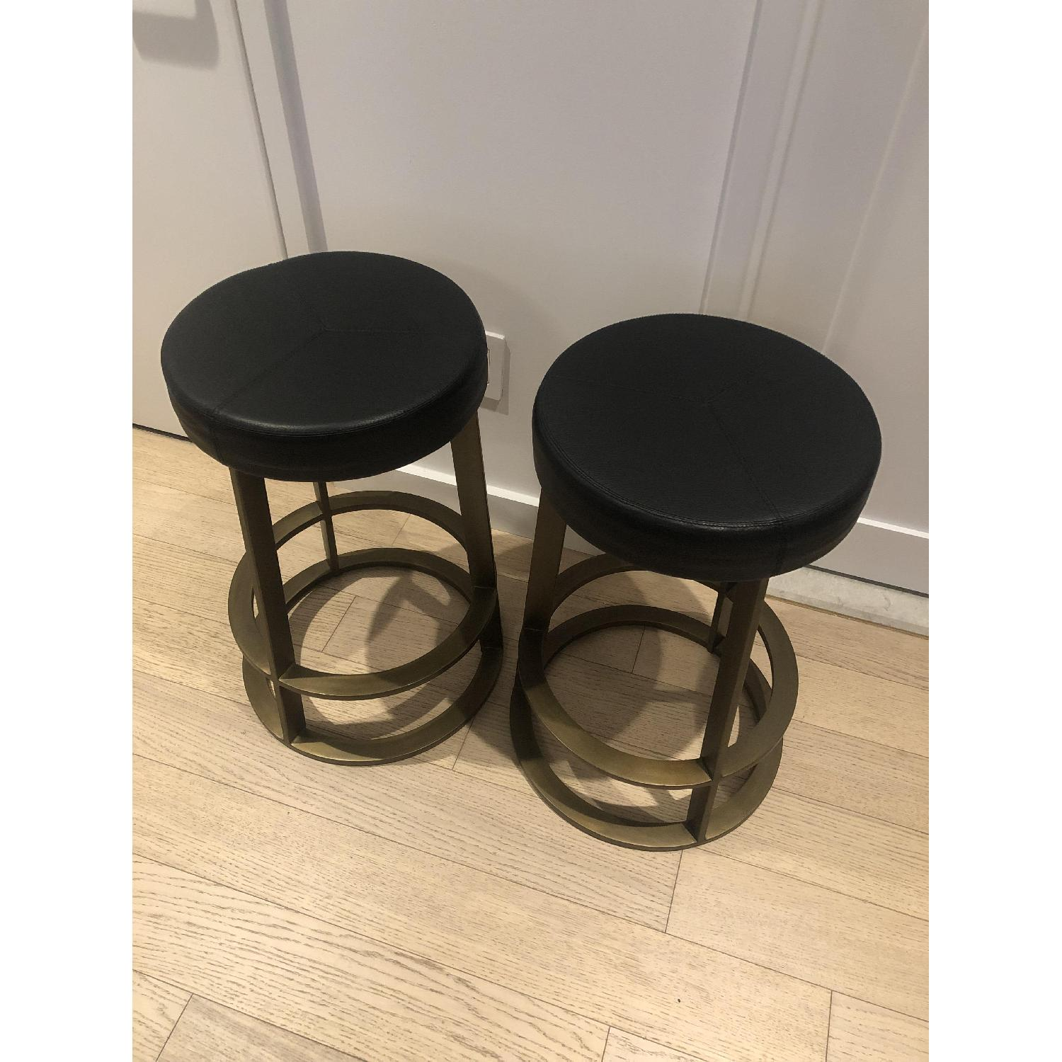 CB2 Leather Reverb Stools - image-7