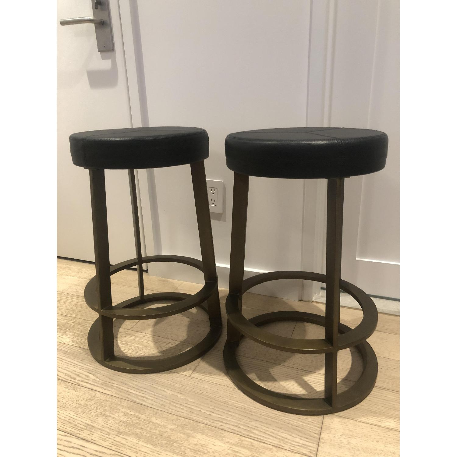 CB2 Leather Reverb Stools - image-11
