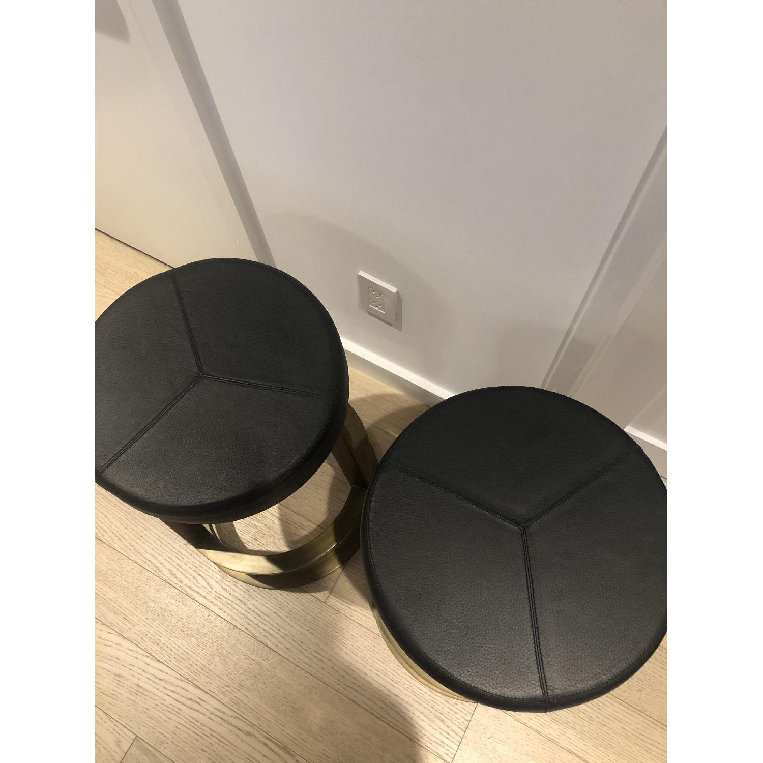 CB2 Leather Reverb Stools - image-9