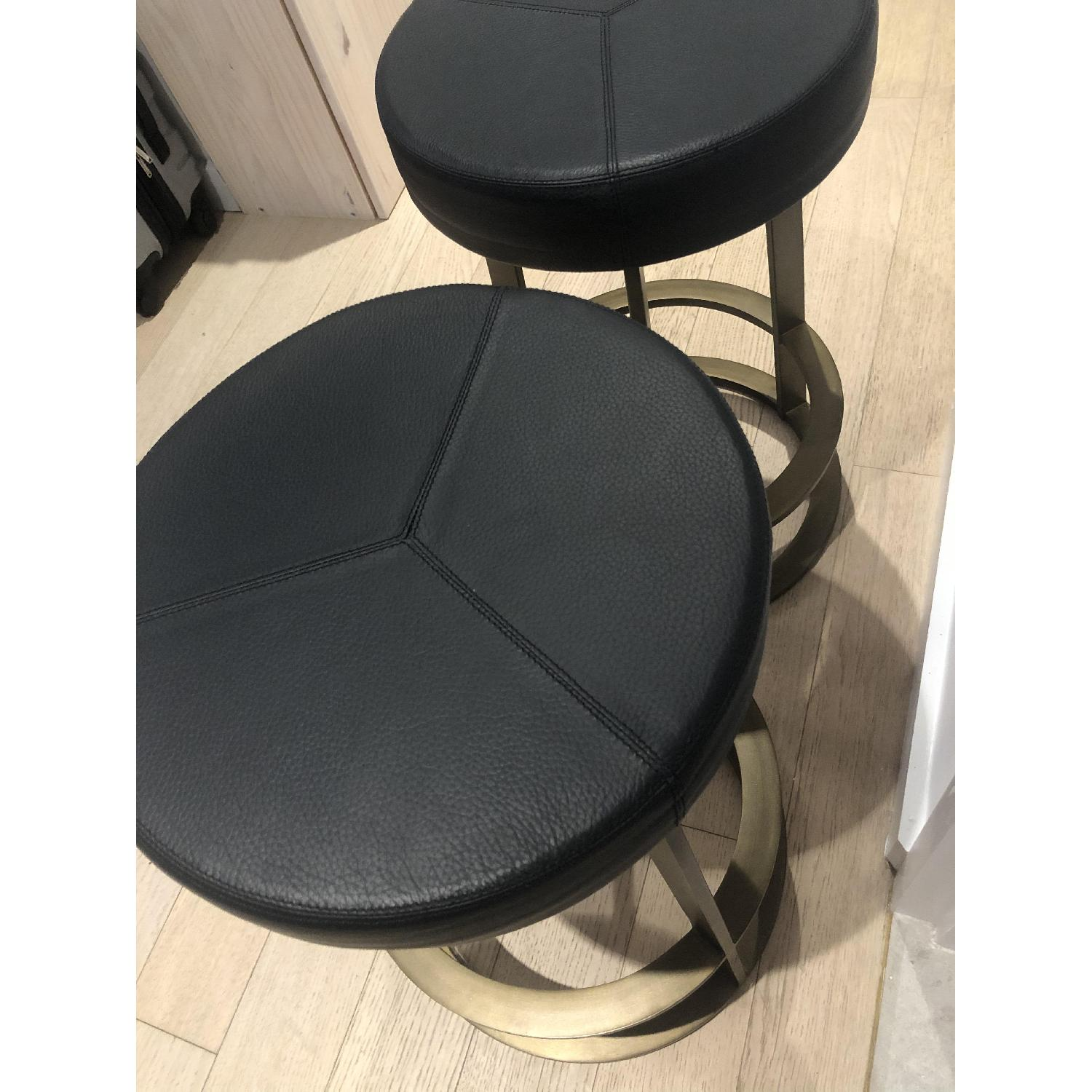 CB2 Leather Reverb Stools - image-8