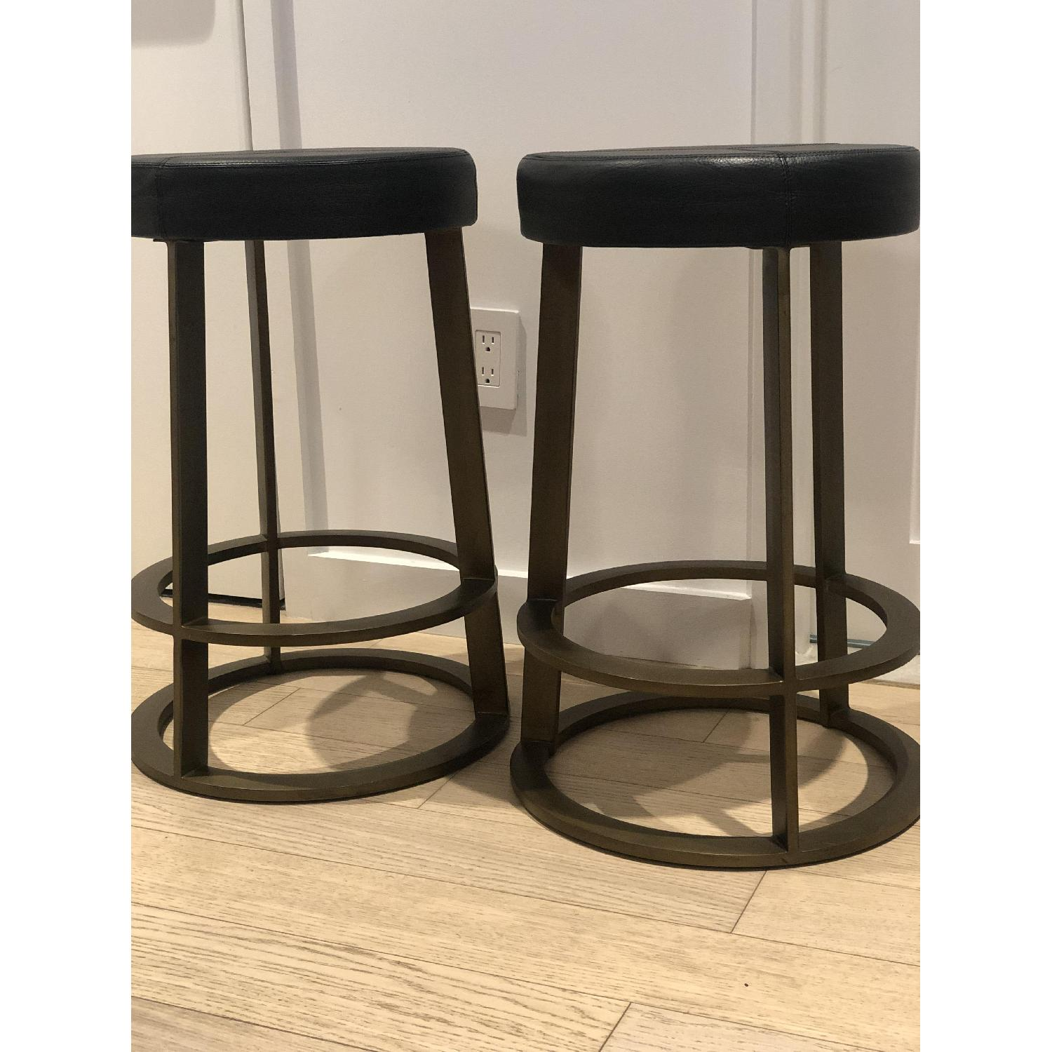 CB2 Leather Reverb Stools - image-10