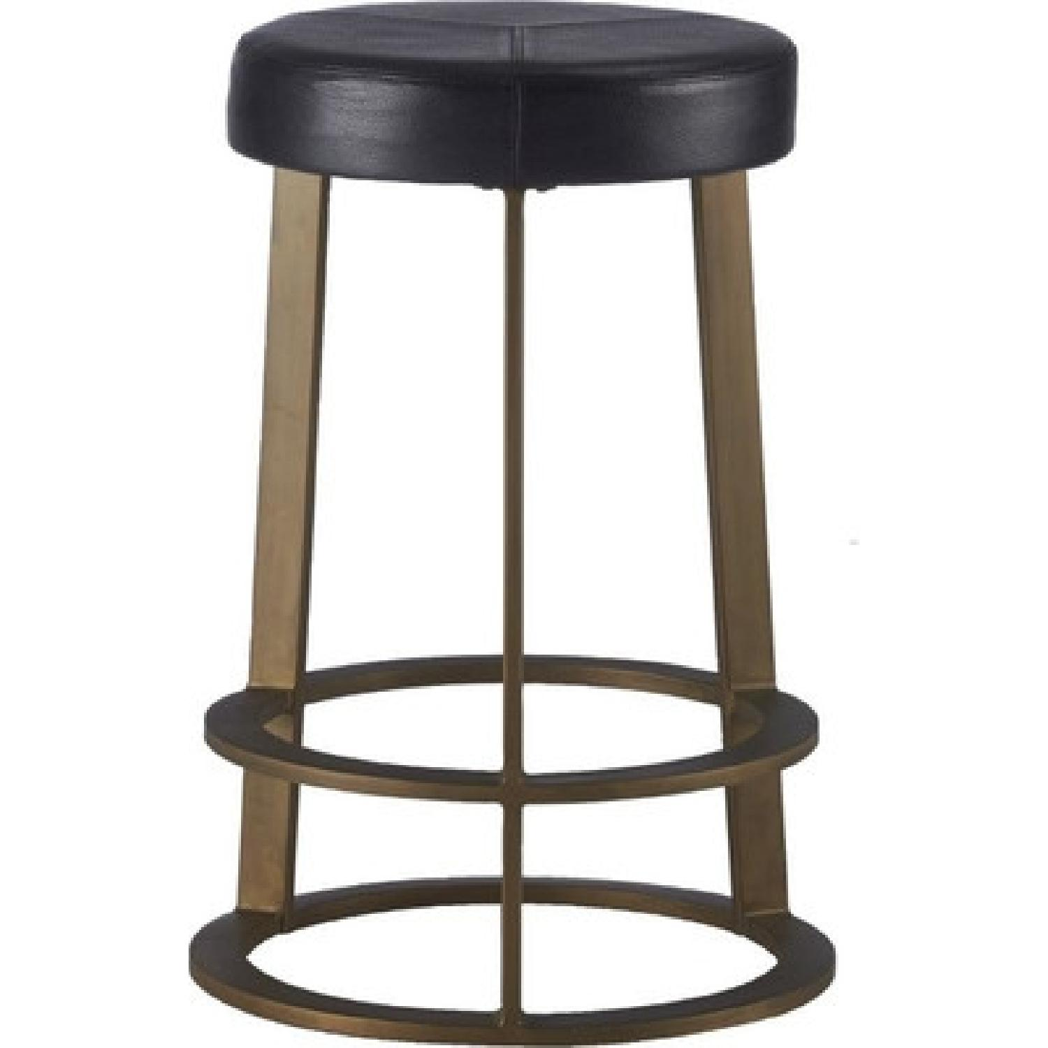 CB2 Leather Reverb Stools - image-0