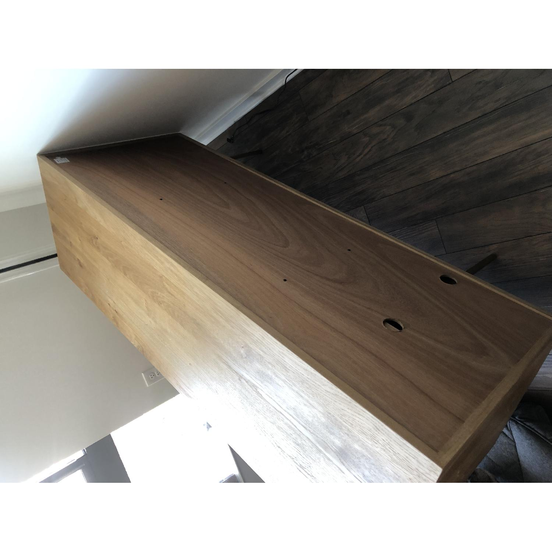 West Elm Oak & Leather Credenza - image-2