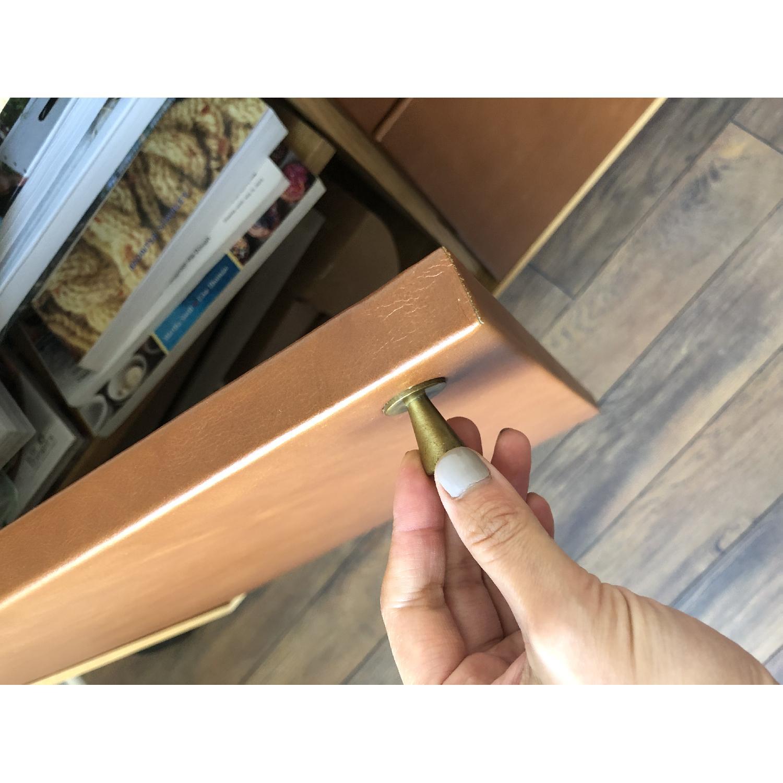 West Elm Oak & Leather Credenza - image-5