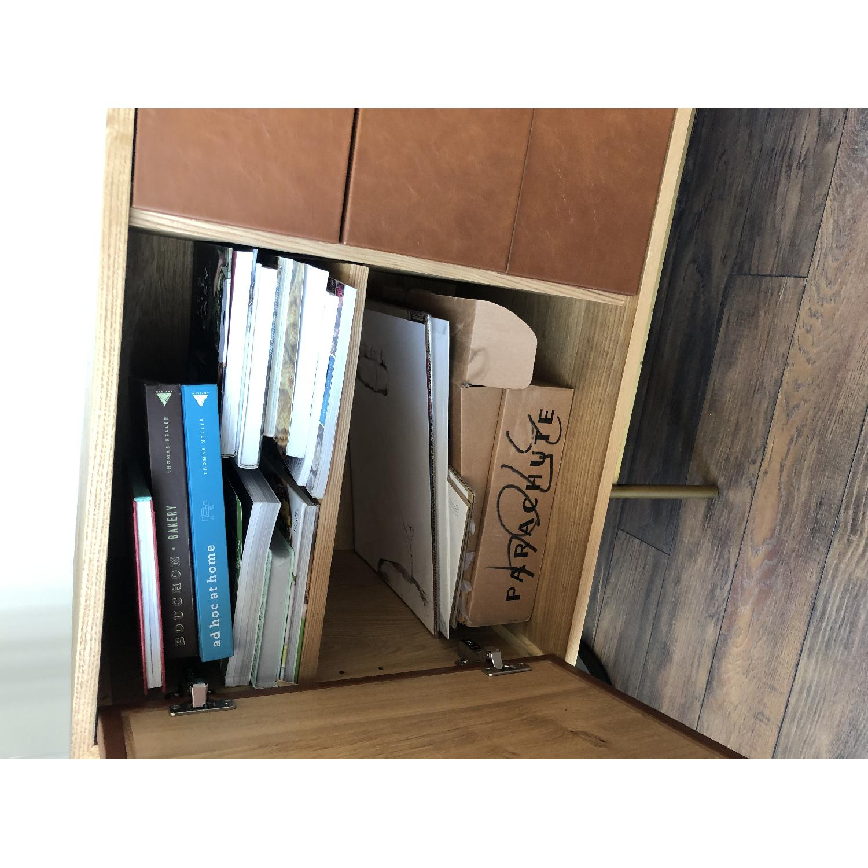 West Elm Oak & Leather Credenza - image-19