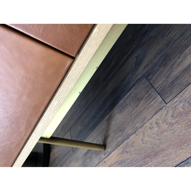 West Elm Oak & Leather Credenza - image-13