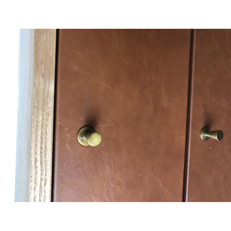West Elm Oak & Leather Credenza - image-15