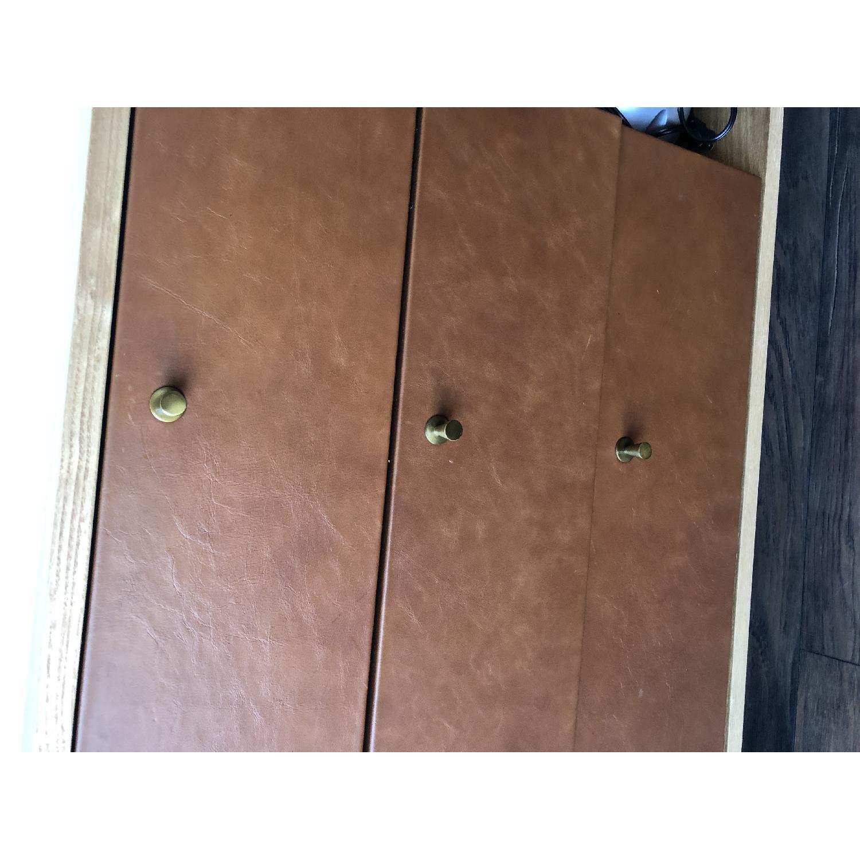 West Elm Oak & Leather Credenza - image-21