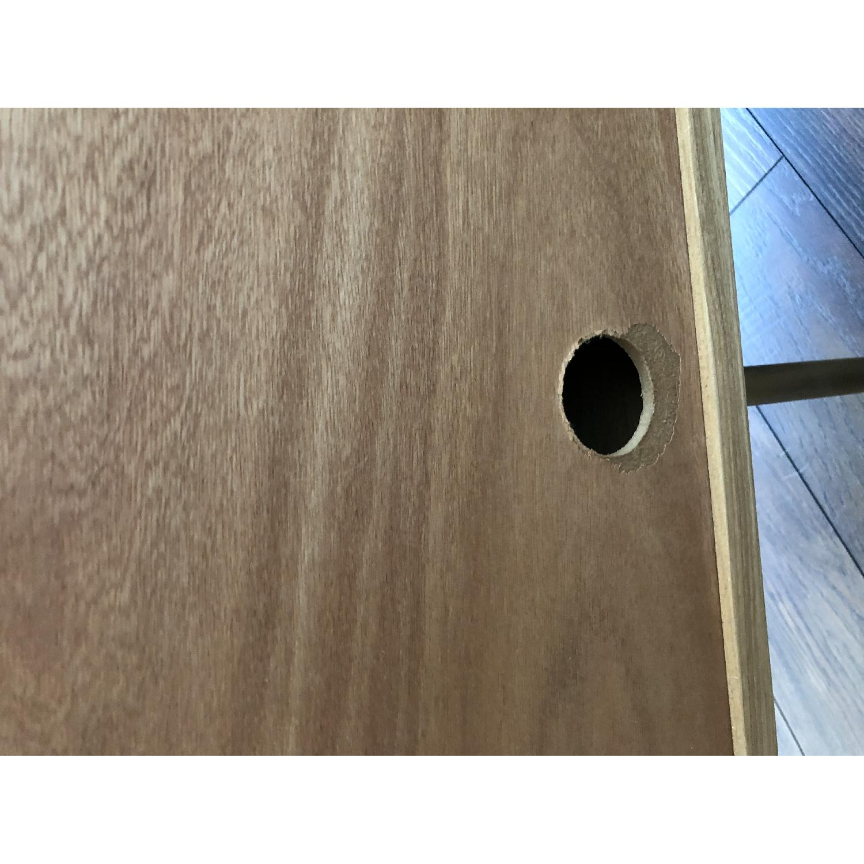 West Elm Oak & Leather Credenza - image-11