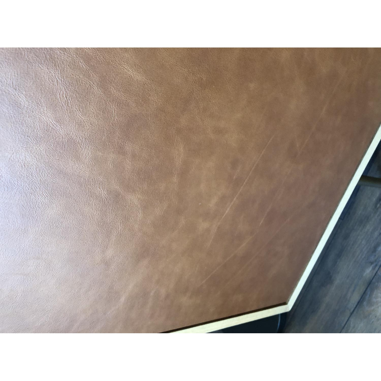 West Elm Oak & Leather Credenza - image-18