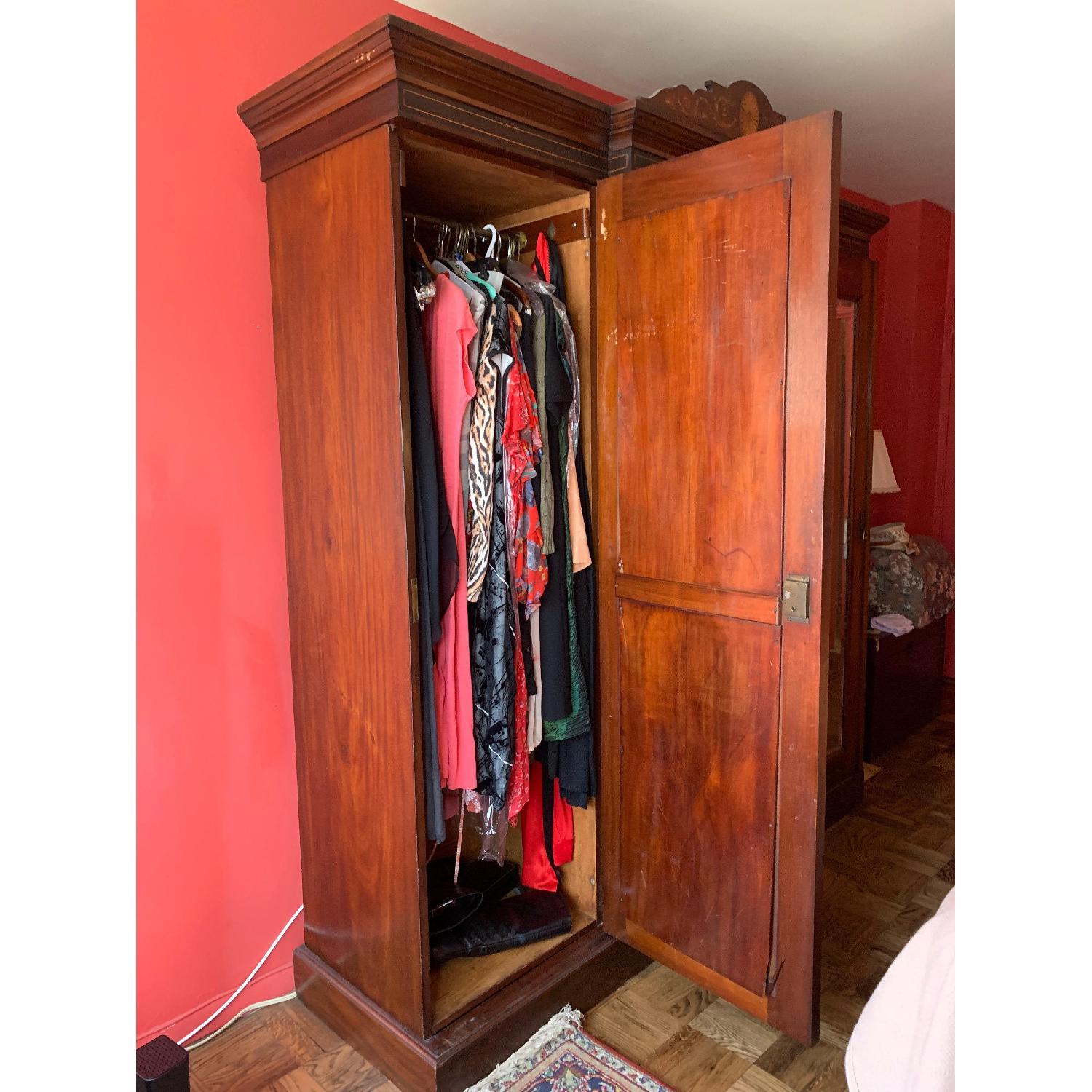 Antique Country English Armoire - image-3