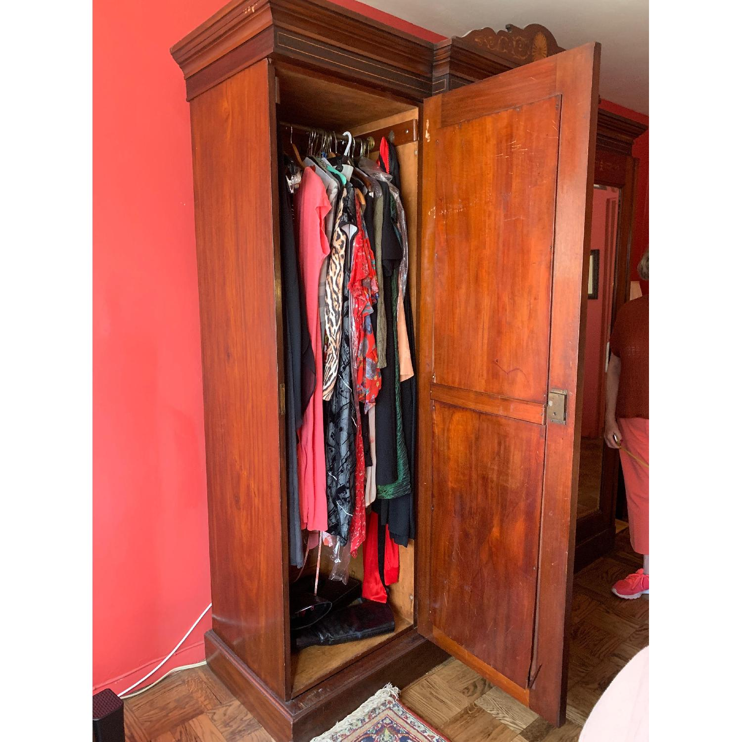 Antique Country English Armoire - image-5