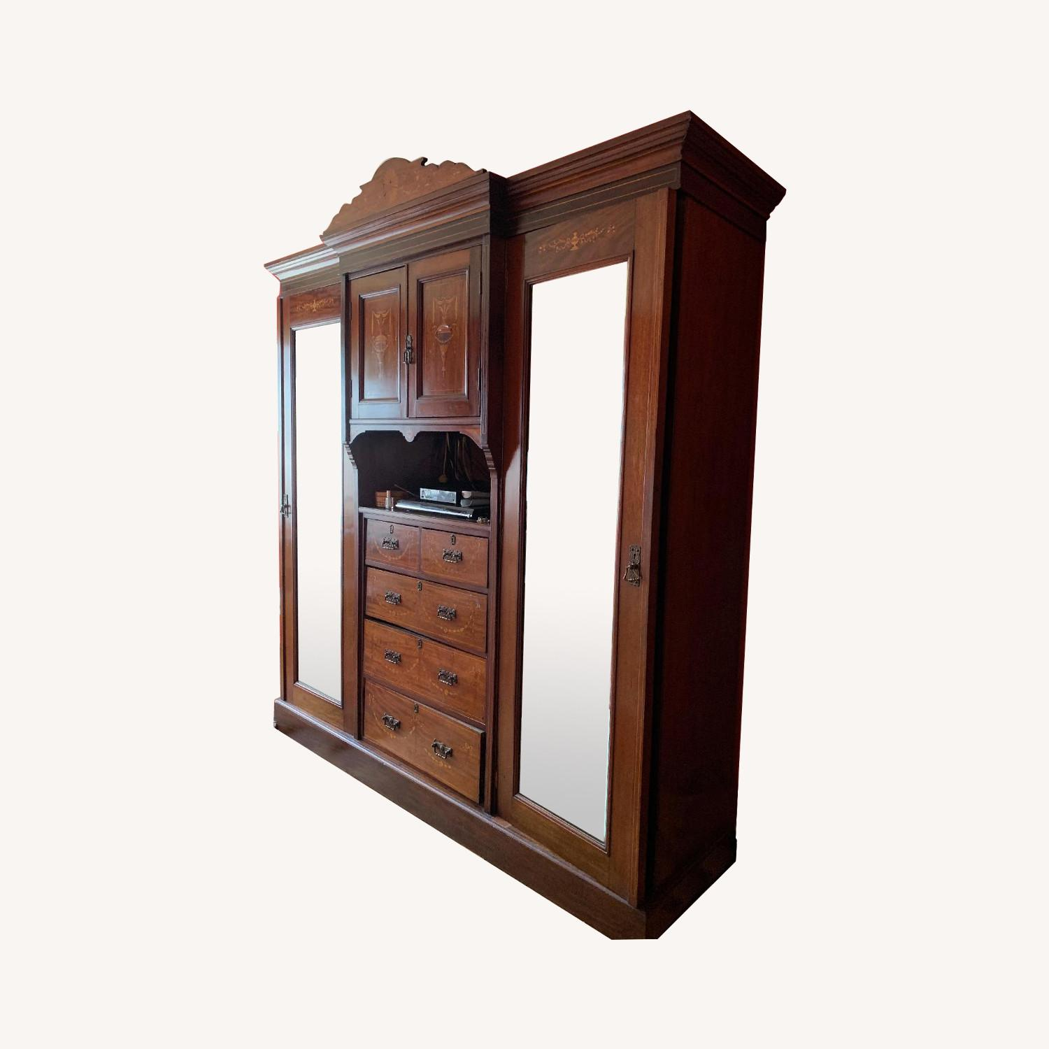 Antique Country English Armoire - image-0