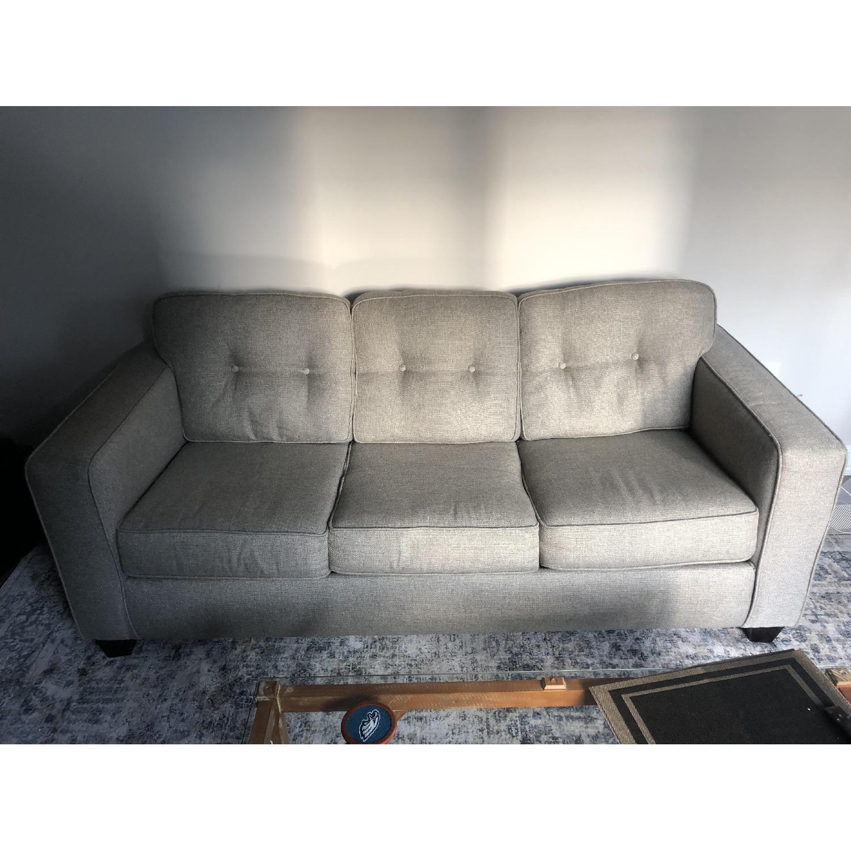 Raymour & Flanigan Beige Sleeper Sofa - image-1