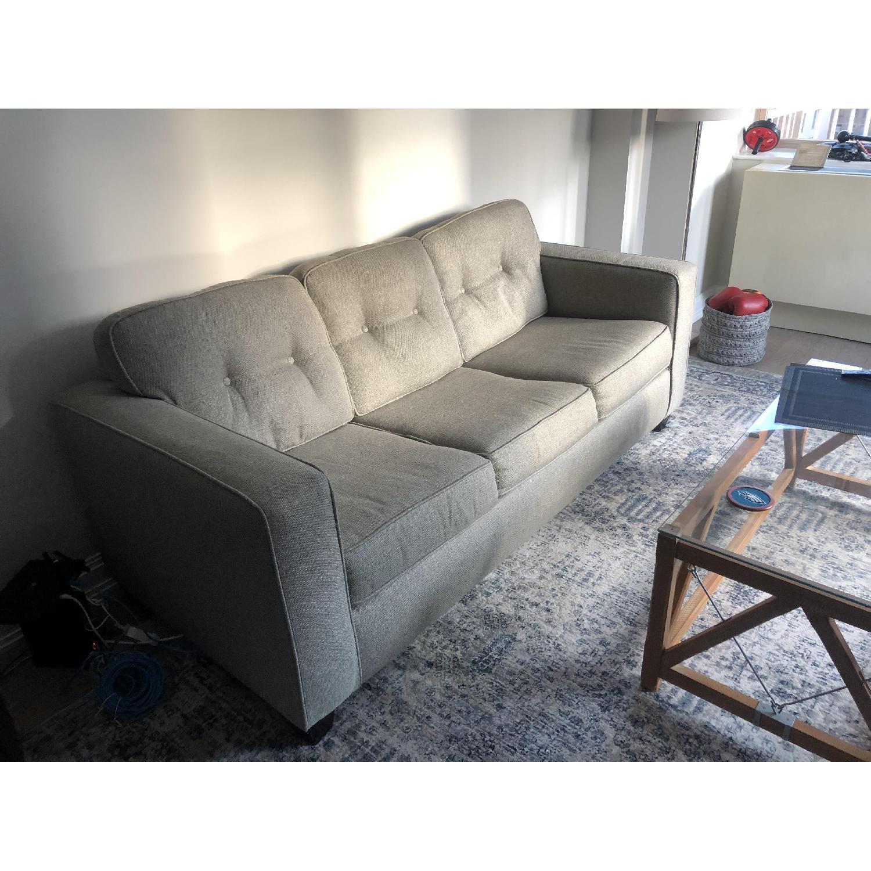 Raymour & Flanigan Beige Sleeper Sofa - image-2