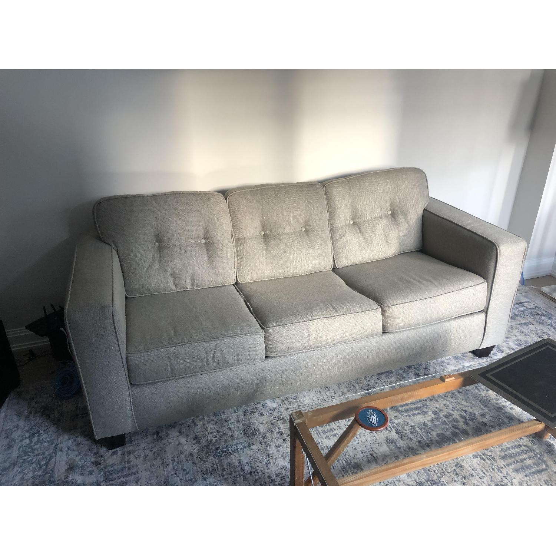 Raymour & Flanigan Beige Sleeper Sofa - image-3
