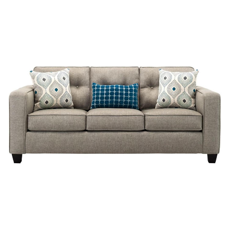 Raymour & Flanigan Beige Sleeper Sofa - image-0
