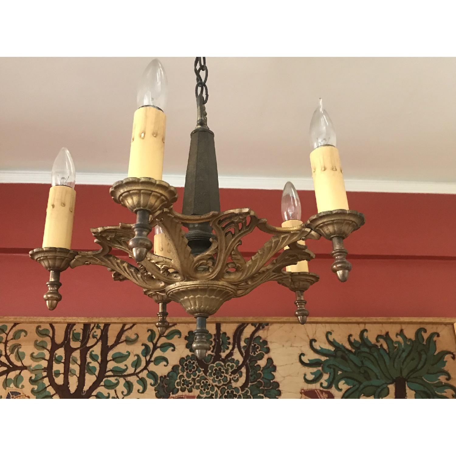 ABC Carpet and Home Antique Brass Chandelier - image-3