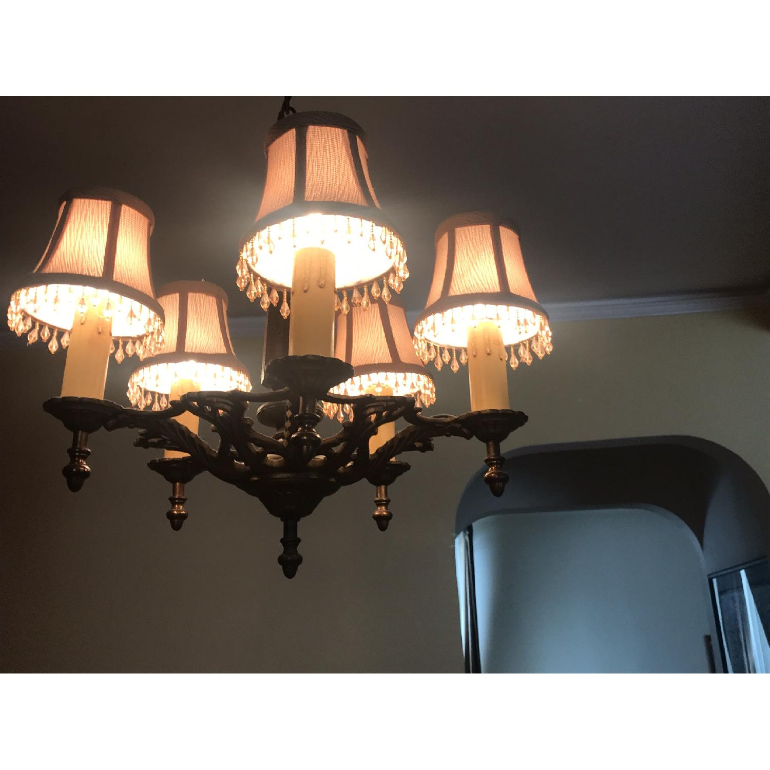 ABC Carpet and Home Antique Brass Chandelier - image-1