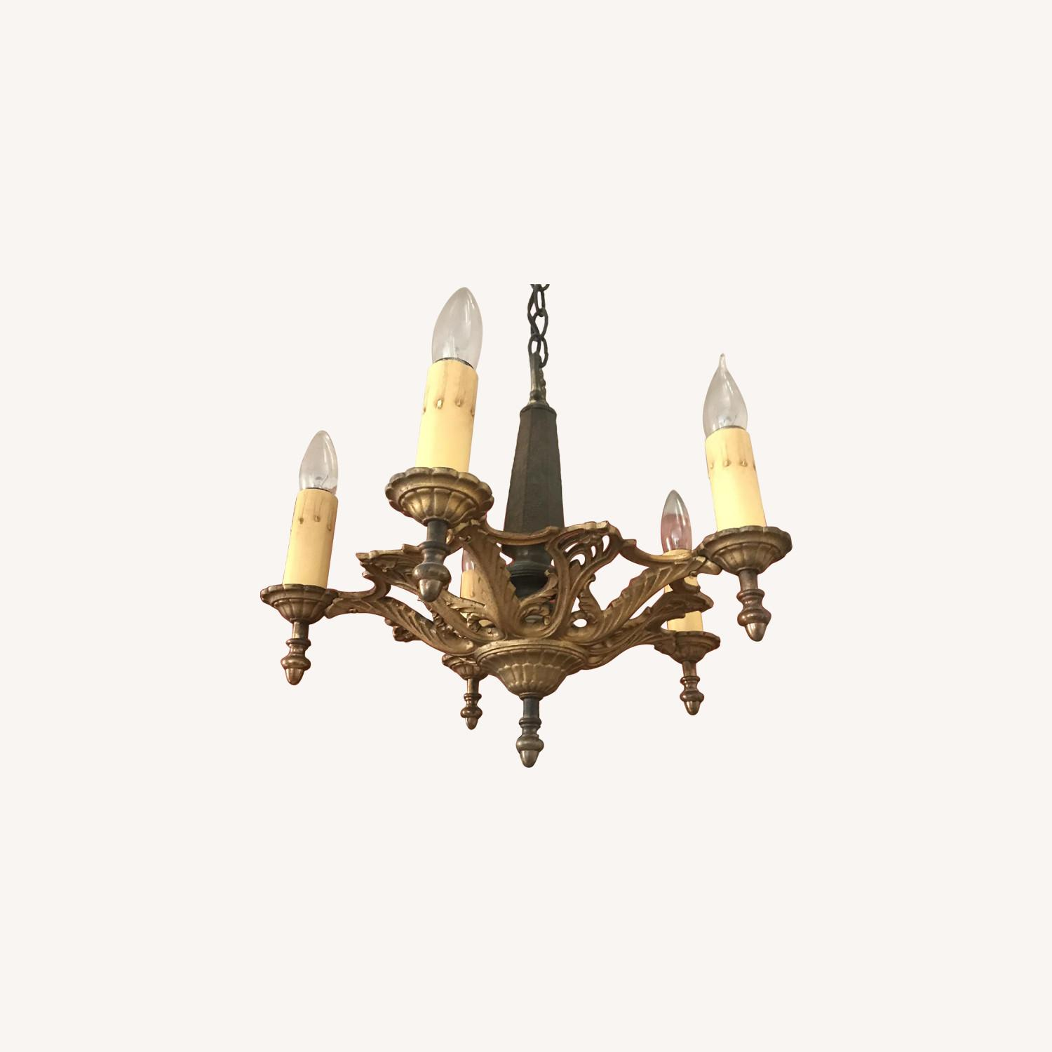 ABC Carpet and Home Antique Brass Chandelier - image-0